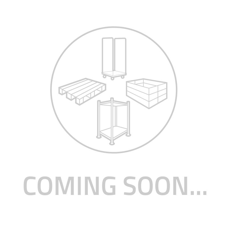 Skrzyniopaleta recyklat 1200x1000x760mm - 3 płozy, zamknięte ściany boczne i dno