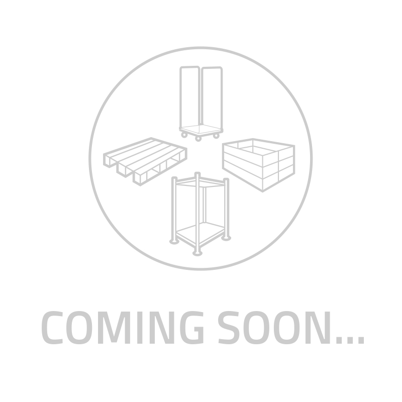 Lekka plastikowa paleta 800x600x130mm - pełny blat